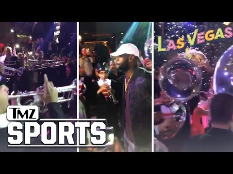 LeBron James -- Greeted By Marching Band ... At Vegas Nightclub