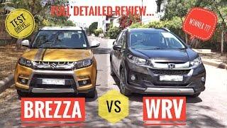 HONDA WRV vs BREZZA FULL DETAILED HINDI  COMPARISON