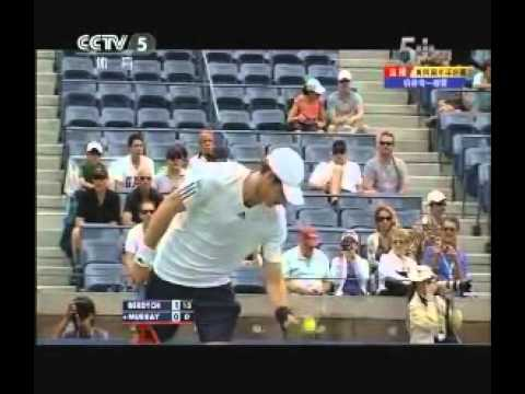 Andy Murray vs Tomas Berdych Semifinals US Open 2012 Set 1 Part 1