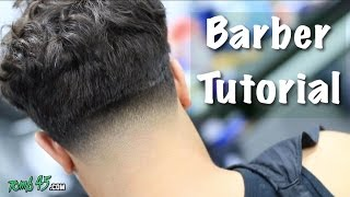 Barber Tutorial! Messy Top Taper | Mens Hairstyle