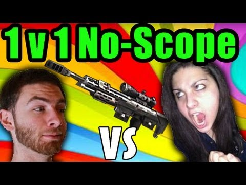 KPopp VS Whiteboy7thst - 1v1 No-Scope Only ( Black Ops 2 )