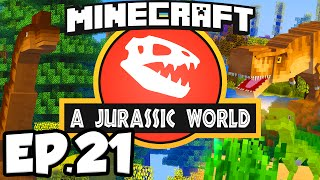 Jurassic World: Minecraft Modded Survival Ep.21 - T-REX DNA!!! (Rexxit Modpack)