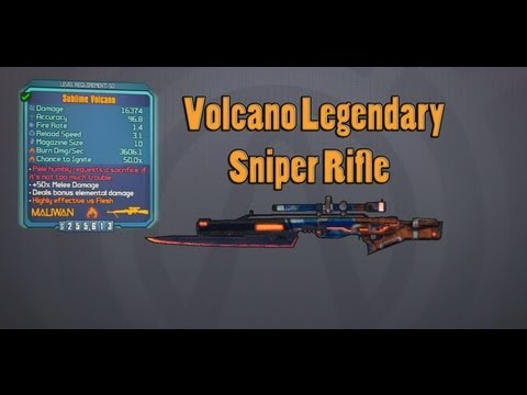 Borderlands 2   How to Get the Volcano (Legendary Sniper Rifle) w/ Mike