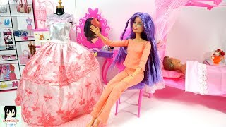 Barbie and Ken Bedroom Morning Routine House Doll Quarto Ami Channel