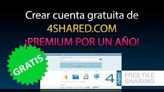 Crear cuenta PREMIUM GRATIS de 4SHARED.COM !! [100% Legal]