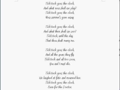 Quot Tick Tock Goes The Clock Quot Doctor Who Poem Youtube
