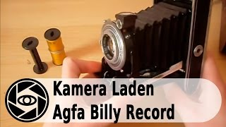 Agfa Billy Record Analog Kamera: Laden und Entladen Tutorial.
