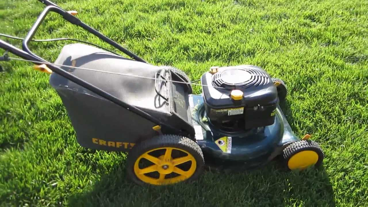 """Sears Craftsman 21"""" Lawn Mower First Start after"""