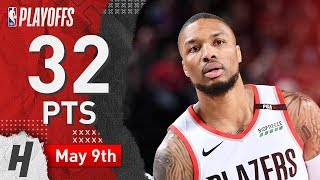 Damian Lillard Full Game 6 Highlights Blazers vs Nuggets 2019 NBA Playoffs - 32 Pts, 5 Ast, 3 Reb!