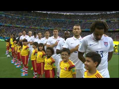 Belgium vs USA National Anthems World Cup 2014