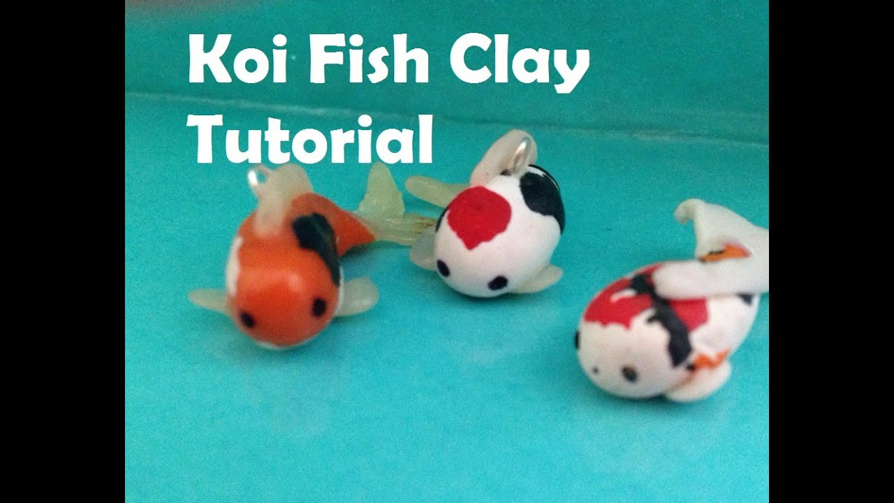 Polymer clay koi fish tutorial youtube for Clay koi fish
