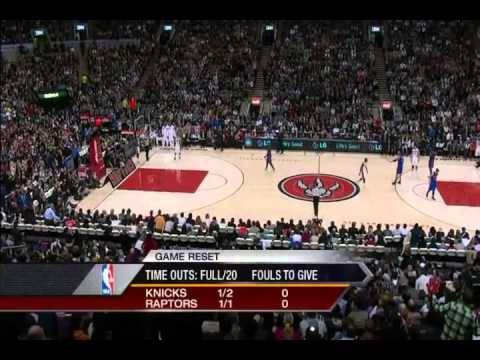 Final 2 minutes of New York Knicks vs Toronto Raptors (Linsanity)