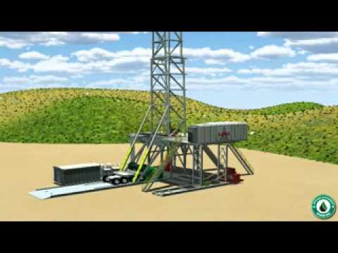 3D Animation Rig-Up/No Cranes Drilling - Applied Machinery Green Rig