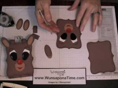 Stampin Up Rudolph the Red Nosed Reindeer Treat Box Video