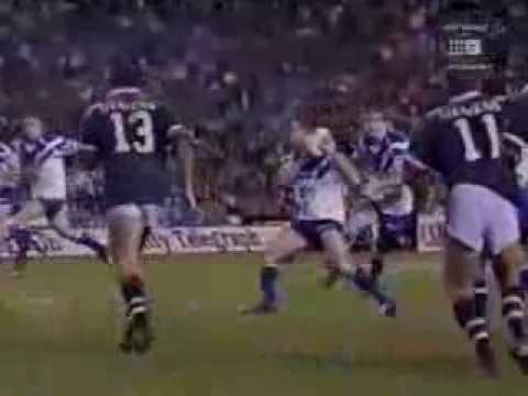 1999 Semi Final Week 1 Canterbury-Bankstown Bulldogs v Sydney City Roosters at the Sydney Football Stadium. Canterbury's Willie Talau goes Kapow (thanks Ray ...