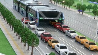 China's Transit Elevated Bus Debuts at Beijing Intel High Tech Expo
