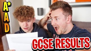 MY BROTHER REVEALS HIS GCSE EXAM RESULTS *ON CAMERA*