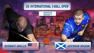 Jayson Shaw - Donny Mills | US International 9-Ball Open 2018
