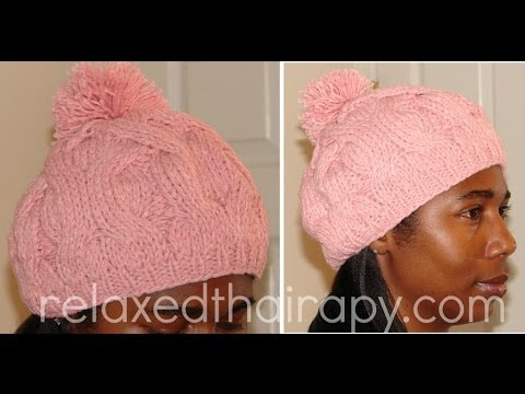 Lining Knit Hat Knit Silk Lined Bobble Hat