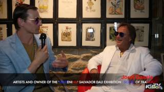 ART IN FUSION TV interviews Jordi Casals at Exhibition of Salvador Dali