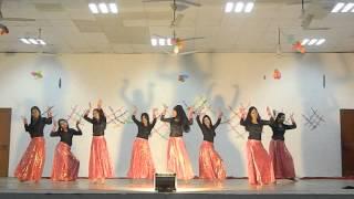 Dhak dhak girls' dance performance in annual meet of tezpur university 2014