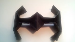 Como hacer una nave de star wars de papel (TIE FIGHTER)