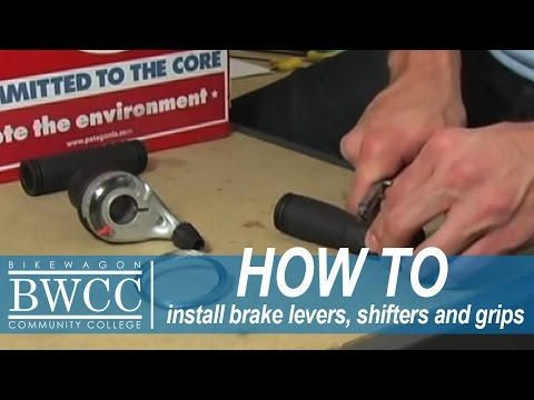 Installing Brake Levers. Shifters and Grips on your Bike