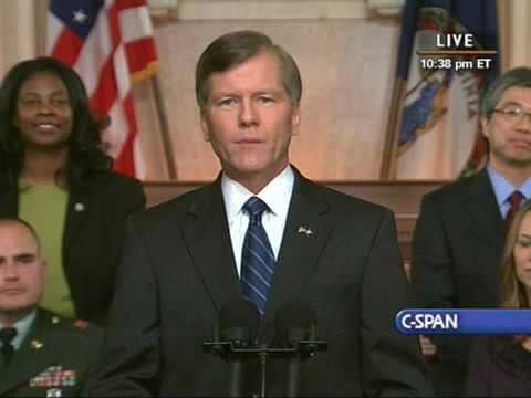 Gov. Bob McDonnell (R-VA) Responds to State of the Union