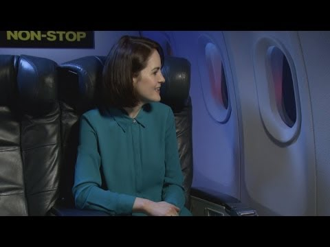 Lady Mary on a plane as Michelle Dockery talks Non-Stop
