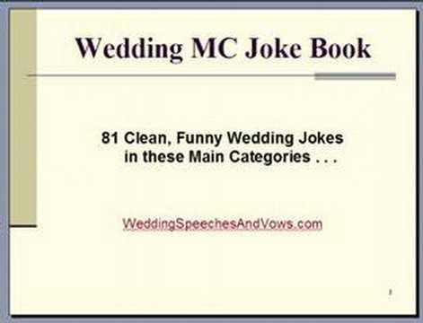 Wedding Mc Joke Book Venus Factor Revolution