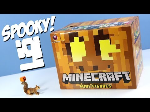 Minecraft Mini-Figures Spooky Series 9 Mystery Boxes Collection Review & Codes