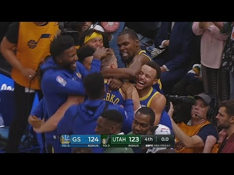 Jerebko Saves Warriors Game Winner 0.3 Seconds vs Jazz! 2018-19 Season
