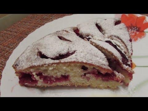 Пирог со сливами Простой и очень вкусный рецепт