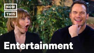'Jurassic World' Stars Chris Pratt and Bryce Dallas Howard Play Dinosaur Trivia | NowThis