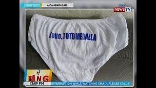 BT: Panty na may pangalan ng konsehal, viral; staff ng pulitiko, sinabing premyo lang ito sa palaro  from GMA News