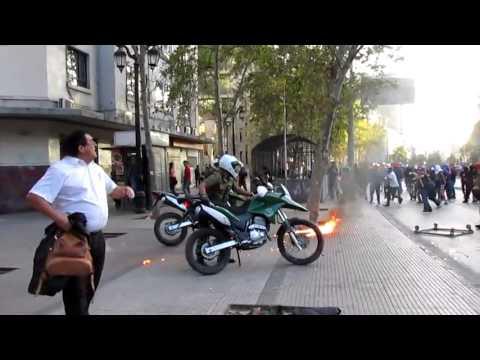 Ataque a Carabineros motorizados