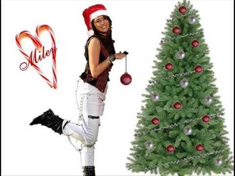 miley cyrus - rockin around the christmas tree + lyrics - YouTube