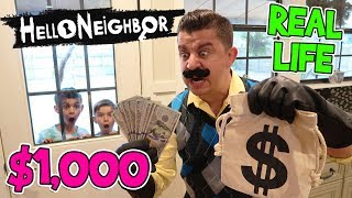Hello Neighbor Game In Real Life! $1,000 Cash Prize (FUNhouse Family)