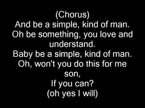 Simple Man By Lynyrd Skynyrd (perfect Lyrics) video