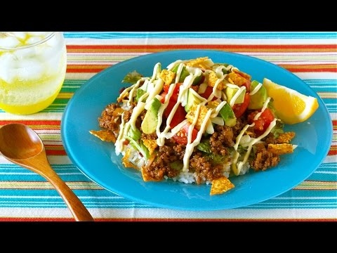 How to Make Taco-Rice (Okinawan Cuisine) 簡単!タコライスの作り方 (沖縄料理 レシピ)