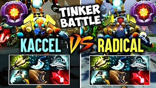 [Radical Tinker vs Kaccel Tinker] Same Build - Crazy Tinker Battle || Who Is Your Favourite  Dota 2