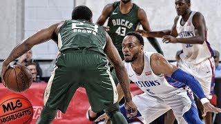 Milwaukee Bucks vs Detroit Pistons Full Game Highlights / July 6 / 2018 NBA Summer League