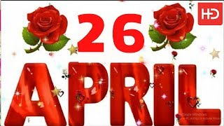 26 April Special New Birthday Status Video , happy birthday wishes, birthday msg quotes जन्मदिन