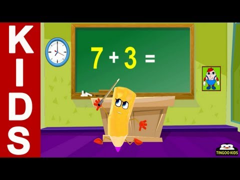 Learn To Add Seven | nursery rhymes &amp; children songs with lyrics | from TingooKids