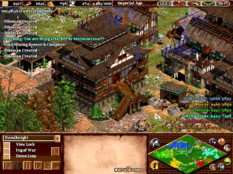 Age of Empires 2 The Conquerors: Online Epic Battle, 3v3 Black Forest Good Players 4