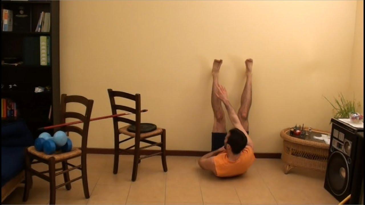 Esercizi pettorali schiena ed addominali allenamento - Costruire palestra in casa ...