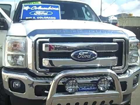 "2011 Ford F350 Lifted 4x4 Crew Cab Lariat 6.7L V8 Diesel 156""WB Stock#1424 for sale at Columbine Ford in Rifle, Colorado www.columbineford.com 970-625-1680."