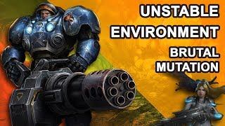 Starcraft 2 Co-op Brutal Mutation: Unstable environment [ Tychus ]