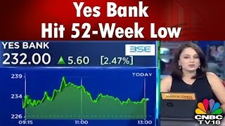 Yes Bank Hit 52-Week Low | Sensex Down By Over 100 Pts | Business Lunch | CNBC Tv18