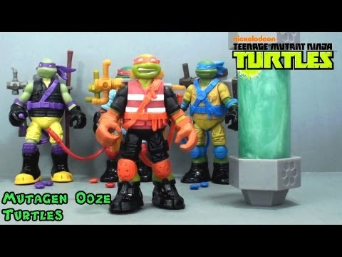 Video Review of the TMNT Mutagen Ooze Turtles